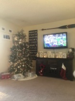 Seahawks game, Christmas music and some Christmas decorations